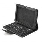 Bluetooth V2.0 Keyboard w/ Folding Leather Case for Samsung P7500 - Black