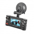 "Dual-5.0MP CMOS Car DVR Camcorder w / 8-IR-LED Night Vision / TF / TV-Out (2,7 ""TFT-LCD)"