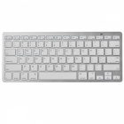 Ultra-fino Bluetooth 2.4GHz Wireless Keyboard 78-Key (2 x AAA)