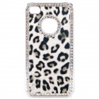 Stylish CrystalLeopard Style Protective Back Case for iPhone 4 / 4S (White + Black)