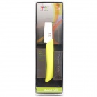 "4"" Chic Ceramic Fruit Paring Knife (Light Yellow + White)"