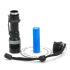 100LM 3-Mode White Light Zoom Focus Adjustable LED Flashlight - Black (1 x 18650)