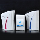 Wireless Digital Door Chime w / Bell-2/1-Button remoto - Blanco