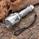 Cree Q5 370LM 5-Mode White Light Water Resistant LED Flashlight - Silver (1 x 18650)