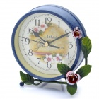 "Elegant 4.75"" Non-Ticking Silent Table Desk Clock - Dark Blue (1 x AA)"