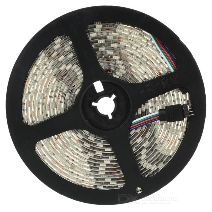 72W 300-5050 SMD LED RGB Light Flexible Strip (DC 12V / 5-Meter) zdm waterproof 72w 200lm 470nm 300 smd 5050 led blue light strip white grey dc 12v 5m