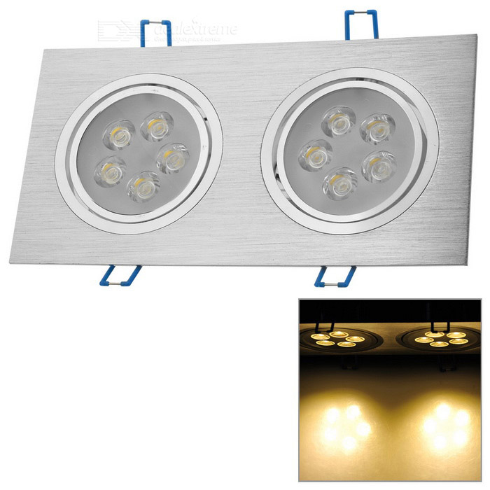 10W 3500K 1000-Lumen 10-LED Warm White Dual Lights Ceiling Lamp (AC 100~245V)