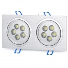 10W 6500K 1000-Lumen 10-LED White Dual Lights Ceiling Lamp (AC 100~245V)
