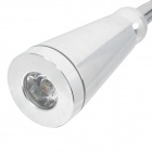Flexible en métal 1W 90LM Lampe de table blanc 1-LED Table Light-Argent (AC 100-240V)