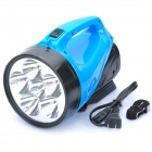 Handheld Rechargeable 2-Mode White 6-LED Flashlight - Blue + Black