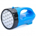 Handheld Rechargeable 2-Mode White 19-LED Flashlight - Blue + Black