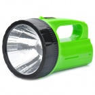 Handheld Rechargeable 2-Mode White 1-LED Flashlight - Green