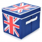 UK Flag Pattern Folding Storage Box - Blue