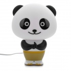 Kung Fu Panda Style Intelligent Lamp Desk Light with Chinese Voice Control - White + Black (AC 220V)
