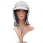 Fishing Cap/Hat with Detachable Back Mantle/Cover - Grey