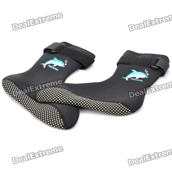 Anti-skidding Diving Socks - Black (L-Size/Pair) universal nylon cell phone holster blue black size l