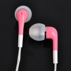 Stylish In-Ear Earphone w/ Microphone for iPhone 4 / 4s / iPod / iPad - Pink (116cm-Cable)