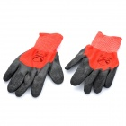 PVC Coated Labor Gloves - Red + Black (Pair)