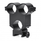 2.4CM 3-Hole Gun Rail Mount - Black