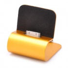Retractable USB 2.0 Charging Cable w/ Stand for iPhone 4 - Yellow