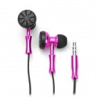 Stylish In-Ear Double-Sided Stereo Earphone - Peach Blossom (3.5mm Jack / 120CM-Cable)
