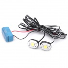 70-80LM 6000-6500K 1-LED White Light Car Spiegel Lamp (1W/DC12V)