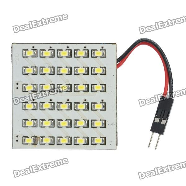15W 360-Lumen 30x1206 LED White Light Car Dome Lamp w/ T10 & SV85 Connectors (DC 12V)