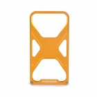 Xmen Pattern Metal Frame Protective Case for iPhone 4/4S - Golden Yellow
