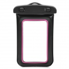 Universal Waterproof Bag with Strap for Iphone / Cell Phone - Black + Deep Pink