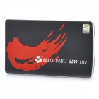 "USB 2.0 Hard Disk Drive Enclosure External Case for 2.5"" SATA HDD - Black + Red + White"
