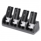 Charger Dock Stand + 4 x 2800mAh Battery Set for Nintendo Wii Remote Controller - Black
