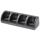 Charger Dock + 4*2800mAh Batteries for Nintendo Wii Controller - Black