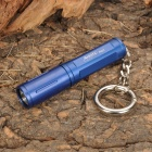 Bronte RA01 LED 80LM 3-Mode White Light Flashlight w/ Key Ring - Blue (1 x AAA/10440)
