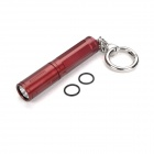 Bronte RA01 LED 80LM 3-Mode White Light Flashlight w/ Key Ring - Red (1 x AAA/10440)