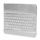 Rechargeable Bluetooth V2.0 82-Key Wireless Keyboard for Ipad 2 / the New Ipad - White + Silver