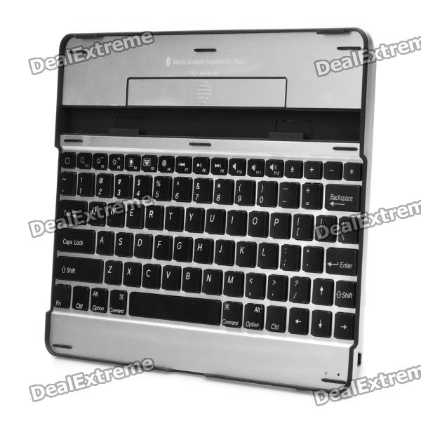 c023fb864a0 Rechargeable Bluetooth 82-Key Wireless Keyboard for Ipad 2 / the New Ipad -  Black + Silver