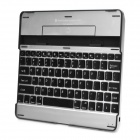 Rechargeable Bluetooth V2.0 82-Key Wireless Keyboard for Ipad 2 / the New Ipad - Black + Silver