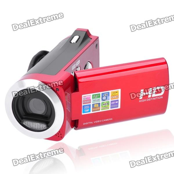 "3.0MP Digital Video Camcorder w/ SD / AV-Out - Red (2.7"" TFT LCD)"