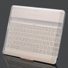 Rechargeable Bluetooth V2.0 82-Key Wireless Keyboard w/ Protective Case for iPad 2 - Silver + White