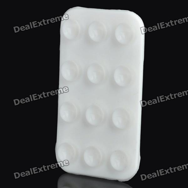 Double-Side Suction Cup Anti-Slip Pad Mat Mount for Cell Phone / Small Gadgets (White)