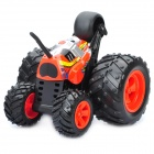 Unique R/C Stunt Car w/ Remote Controller - Black + Red (49MHz)
