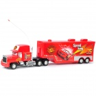 The Cars Cartoon Style Four Channel Super Truck Toys with Remote Controller - Red