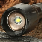 NEW-108 XML T6 3-Mode 900LM White LED Zoom Convex Lens Flashlight w/ Strap (1 x 18650 / 3 x AAA)