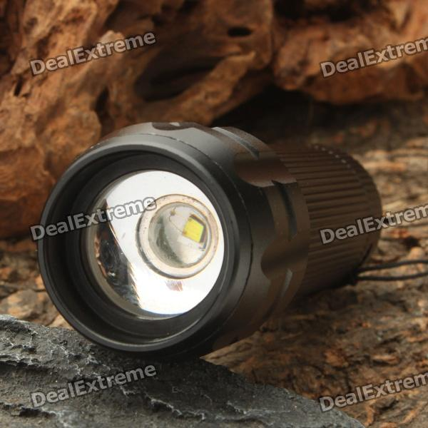 3-Mode 220-Lumen White Zoom Convex Lens LED Flashlight w/ Strap (3 x AAA) [фото2]