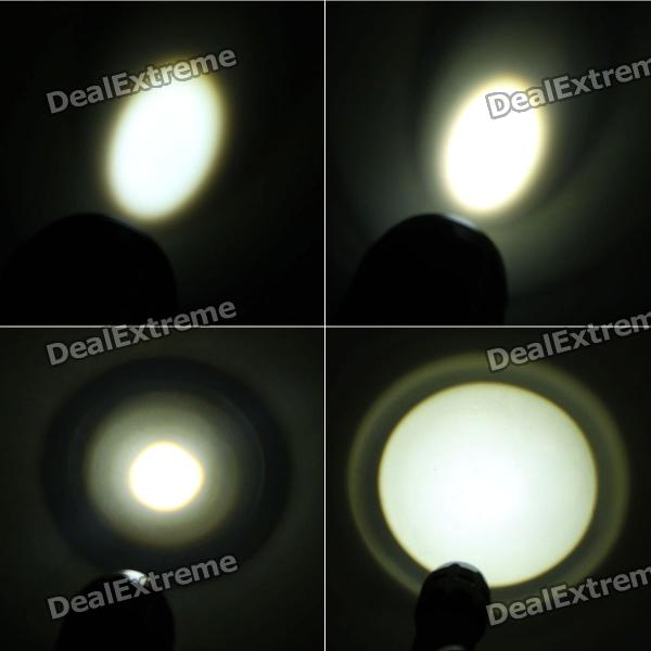 3-Mode 220-Lumen White Zoom Convex Lens LED Flashlight w/ Strap (3 x AAA) [фото6]