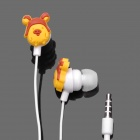 Cute Rilakkuma Style Earphone w/ Clip for iPhone (3.5mm-Plug / 100cm-Cable)
