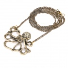 Fashion Octopus Pendant Sweater Necklace (70cm-Chain)