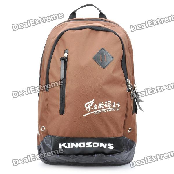 "Protective Casual Backpack Bag for 15.6"" Laptop Notebook - Coffee"