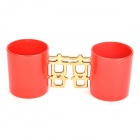 Double Happiness Ceramic Mug Cup - Red + Golden (Pair)