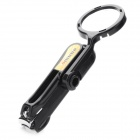 Nail Clippers with 10X Magnifier - Black + Silver